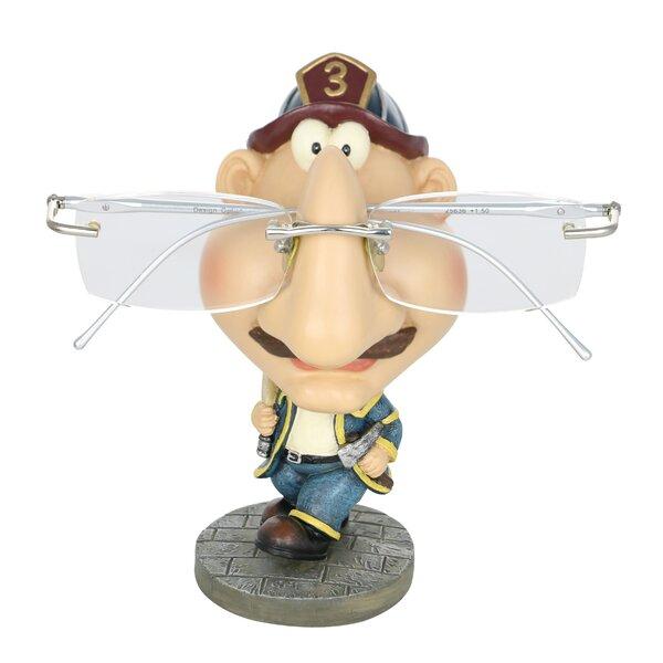Kwon Eyeglass Holder Fireman Whimsical Figurine by Winston Porter