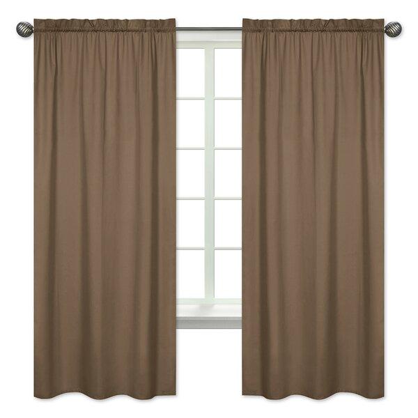 Soho Solid Semi-Opaque Rod Pocket Curtain Panels (Set of 2) by Sweet Jojo Designs