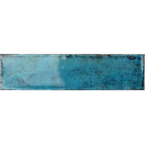 Moze 3 x 12 Ceramic Subway Tile in Blue by Splashback Tile