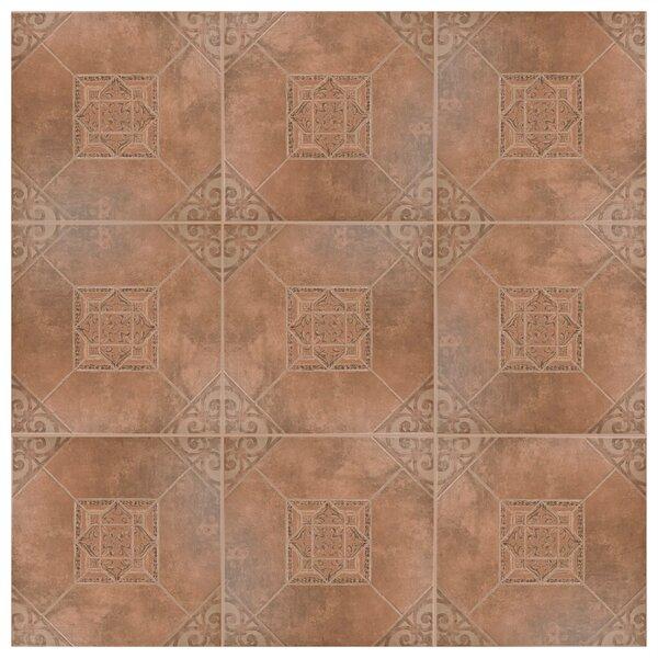 Montes 17.63 x 17.63 Ceramic Field Tile in Teja by EliteTile