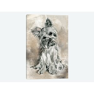 'Sketchy Study: Yorkie'  Print on Canvas by East Urban Home