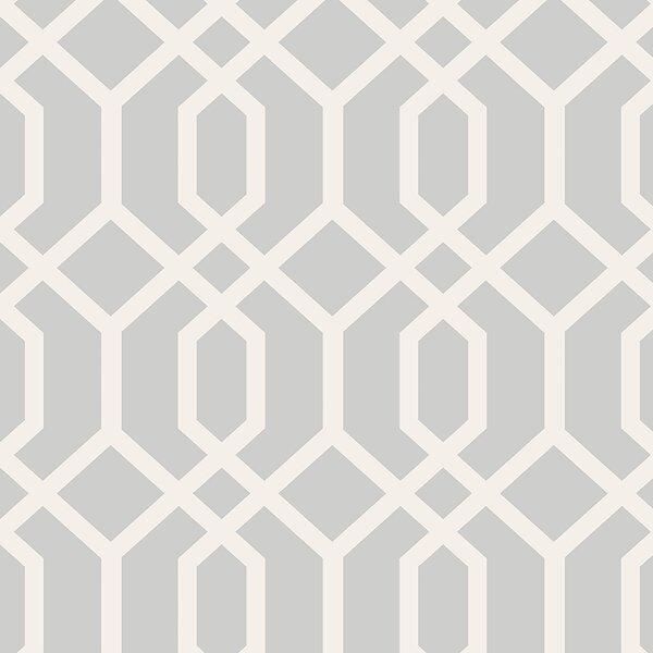 Essentials 33' x 20.5 Trellis Montauk Wallpaper Roll by Brewster Home Fashions