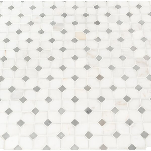 Bianco Dolomite 12.31 x 12.36 Marble Mosaic Tile in White by MSI