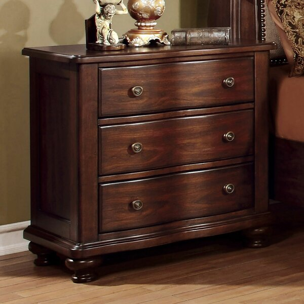 Thelma 3 Drawer Nightstand by Canora Grey
