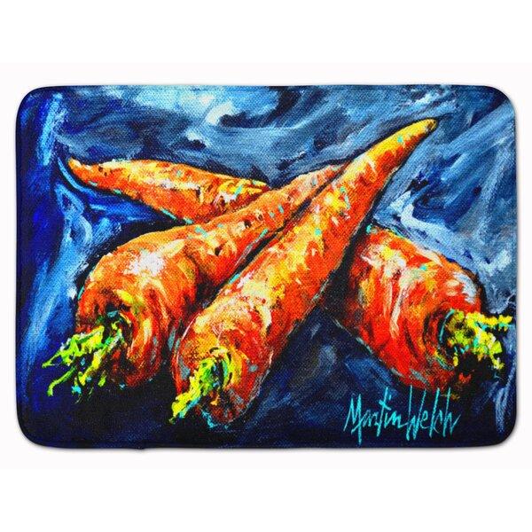Carrots Only Three Needed Rectangle Microfiber Non-Slip Bath Rug