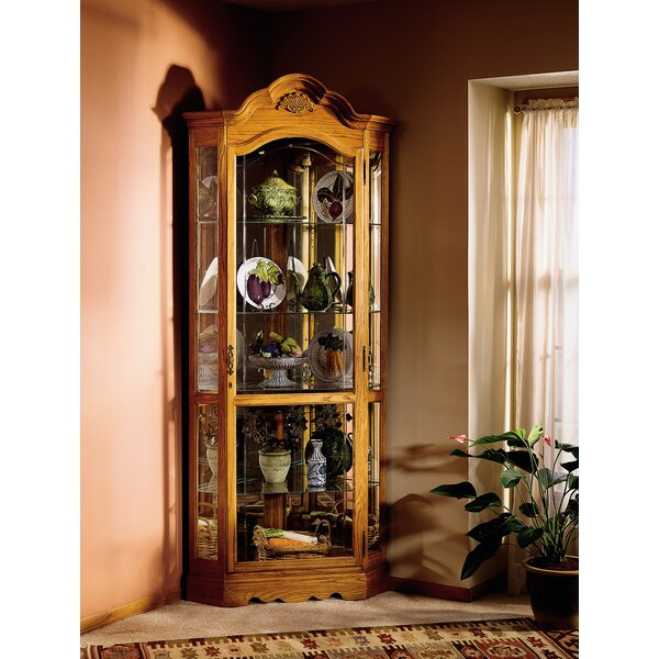 Branscum Corner Curio Cabinet by Darby Home Co