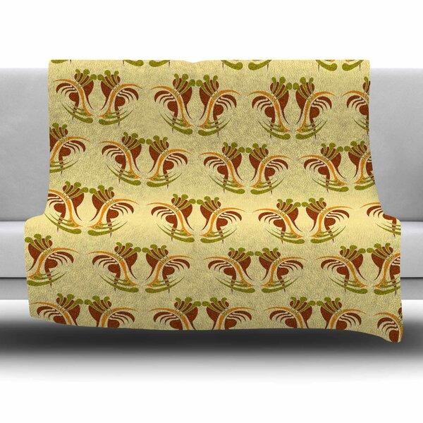 Curvaceous by Dan Sekanwagi Fleece Throw Blanket by East Urban Home