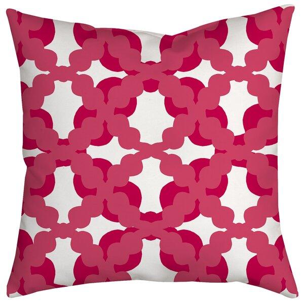 Lattice Fence Geometric Indoor/Outdoor Throw Pillow