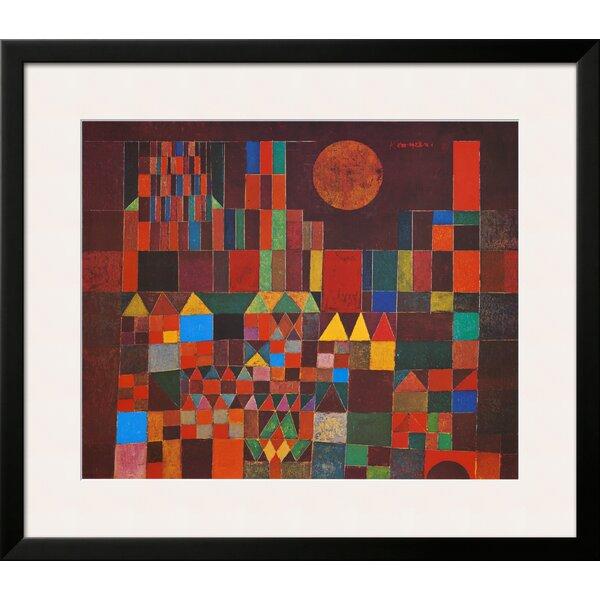 Art Com Castle And Sun By Paul Klee Framed Graphic Art Wayfair