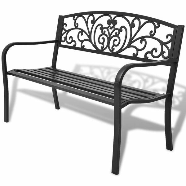 Steel and Iron Garden Bench by East Urban Home