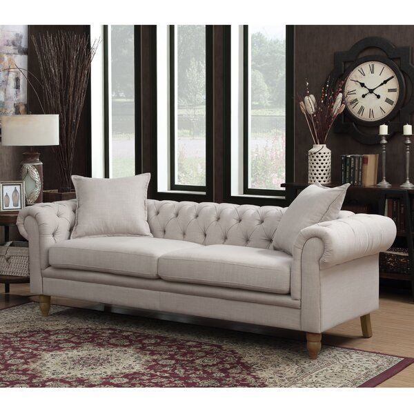 #1 Lantz Chesterfield Sofa By House Of Hampton Comparison