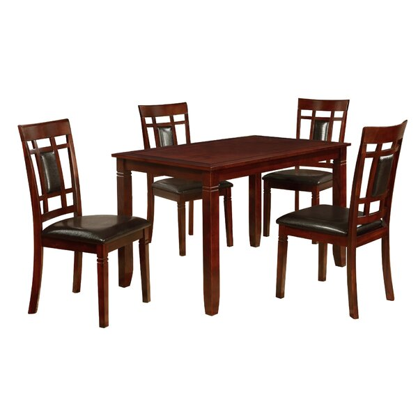 Patrick 5 Piece Solid Wood Dining Set by Darby Home Co Darby Home Co