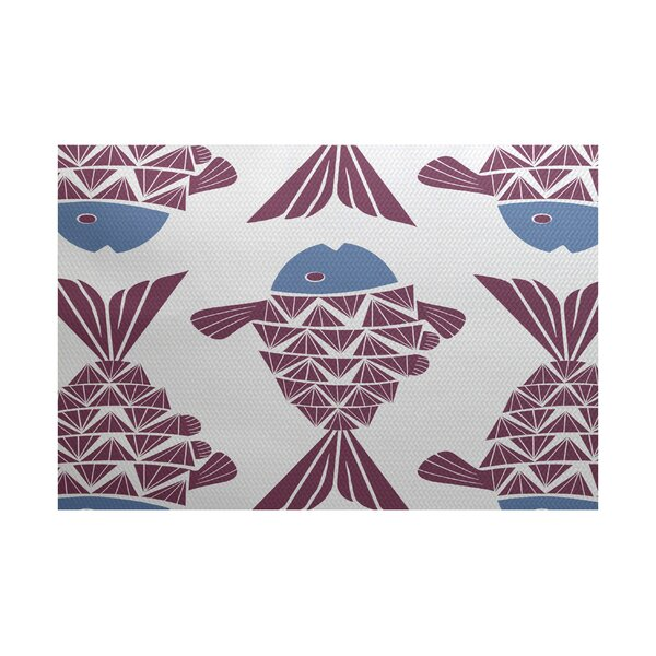 Grand Ridge Purple/Blue Indoor/Outdoor Area Rug by Bay Isle Home