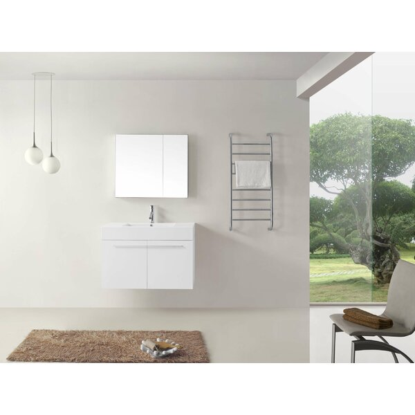 Cartagena 36 Single Bathroom Vanity Set with White Top and Medicine Cabinet by Mercury Row