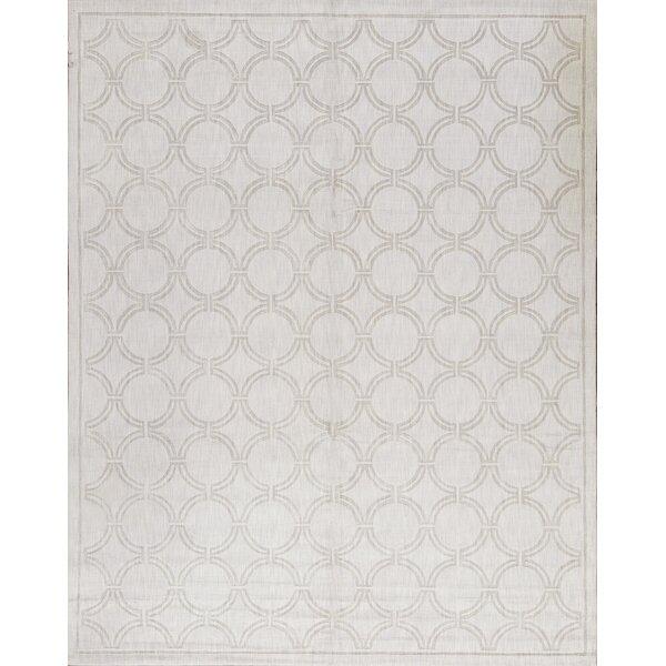 One-of-a-Kind Handwoven Silk Silver Indoor Area Rug by Bokara Rug Co., Inc.