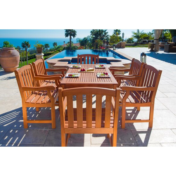 English Garden 7 Piece Dining Set by Vifah