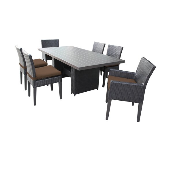 Tegan 7 Piece Outdoor Patio Dining Set with Cushions by Sol 72 Outdoor