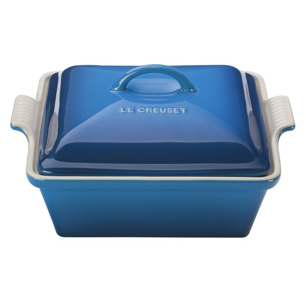 Stoneware Square Heritage Covered Casserole by Le Creuset