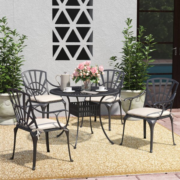 Frontenac 5 Piece Dining Set with Cushions by Astoria Grand