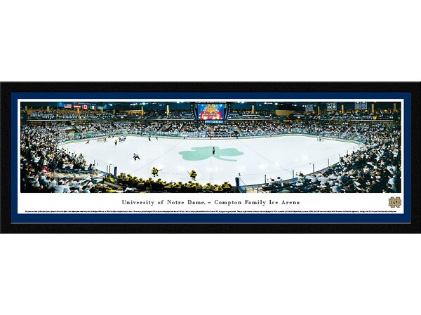 NCAA Notre Dame, University of - Hockey by Christopher Gjevre Framed Photographic Print by Blakeway Worldwide Panoramas, Inc