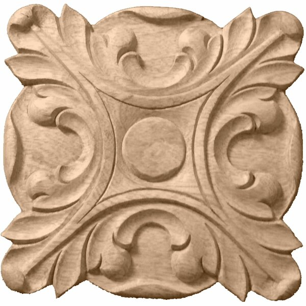Acanthus 3 1/2H x 3 1/2W x 5/8D Rosette by Ekena Millwork