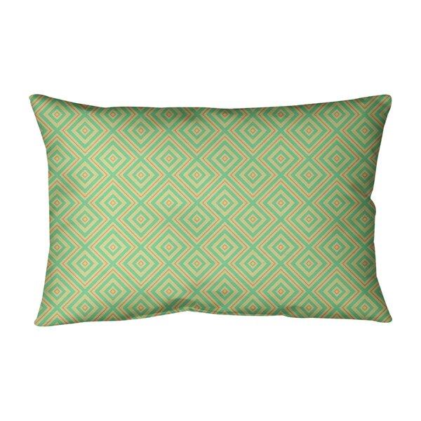 Leffel Square Lattice Indoor/Outdoor Lumbar Pillow