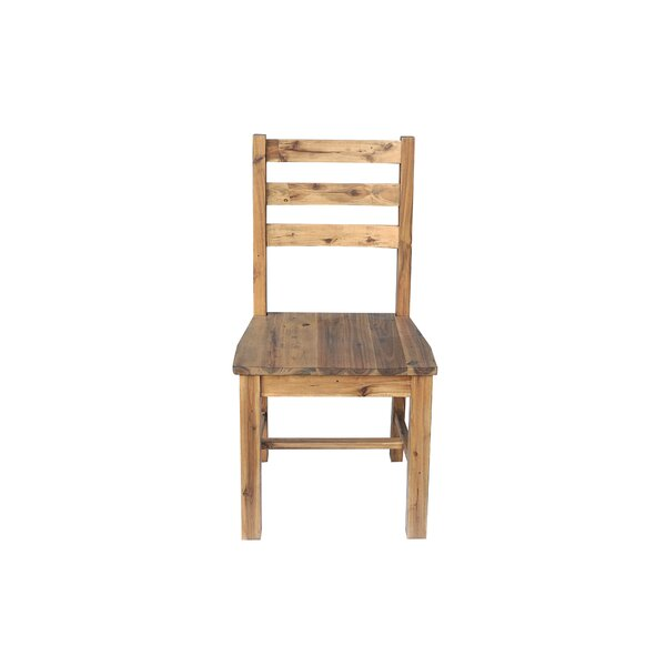 Fiskeville Acacia Solid Wood Dining Chair by Union Rustic