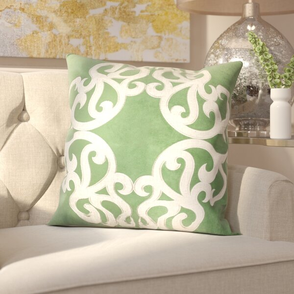 Milliman Applique Velvet Throw Pillow by House of Hampton