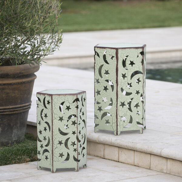 Antoinette Iron Side Table (Set of 2) by Bungalow Rose