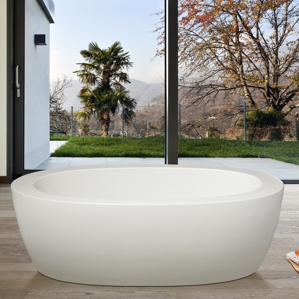 PureScape 68.7 x 32.75 Soaking Bathtub by Aquatica