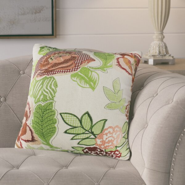 Gamache Floral Leaf Cotton Throw Pillow by August Grove