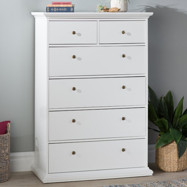 Breckenridge 6 Drawer Standard Dresser/Chest by Beachcrest Home