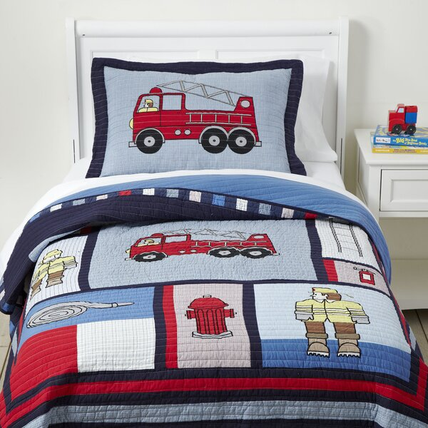 Code Red Cotton Quilt Set by Birch Lane Kids™
