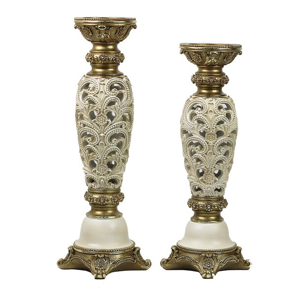 Kayla 2 Piece Candlestick Set by D'Lusso Designs