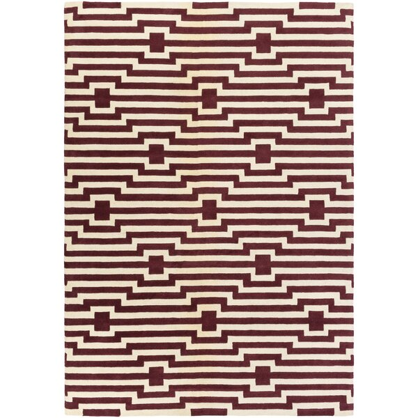 Zeitz Hand-Tufted Red Area Rug by George Oliver
