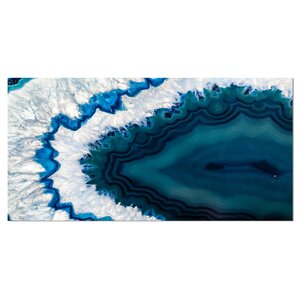 'Blue Brazilian Geode' Graphic Art on Wrapped Canvas by Design Art
