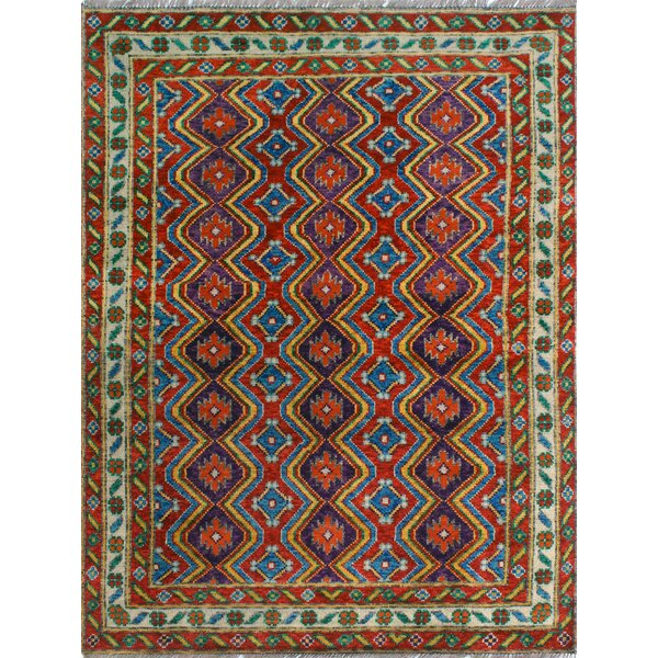One-of-a-Kind Millender Tulinagwe Hand-Knotted Wool Rust Area Rug by Bloomsbury Market