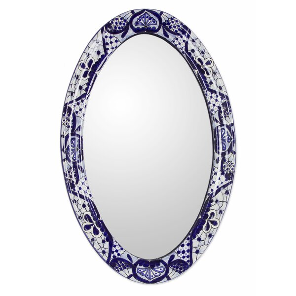 Leonardo Godínez Hand-Painted Accent Mirror by Novica