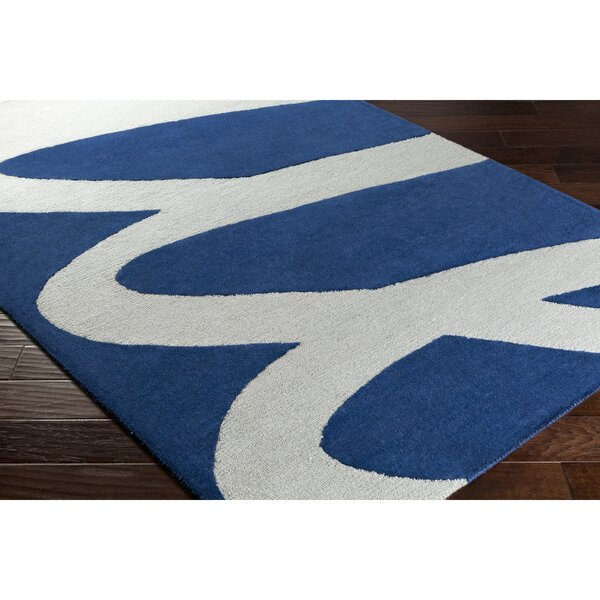 Nida Hand-Tufted Gray/Blue Area Rug by Wrought Studio