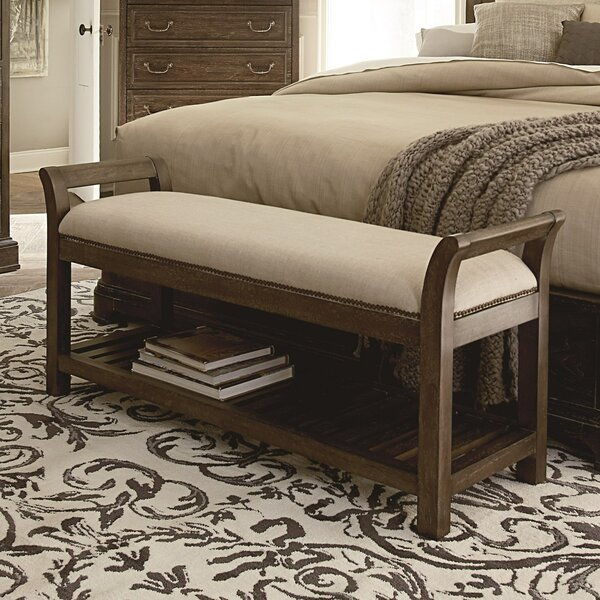 Pond Brook Fabric Storage Bench by Darby Home Co
