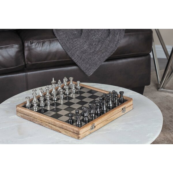 Aluminum/Wood Chess Set by Cole & Grey