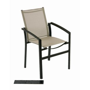 Out Of Blue Ozalide Stacking Patio Dining Chair by Les Jardins