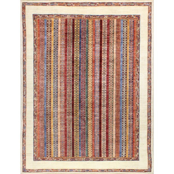 One-of-a-Kind Sophia Hand Woven Wool Ivory Area Rug by Isabelline