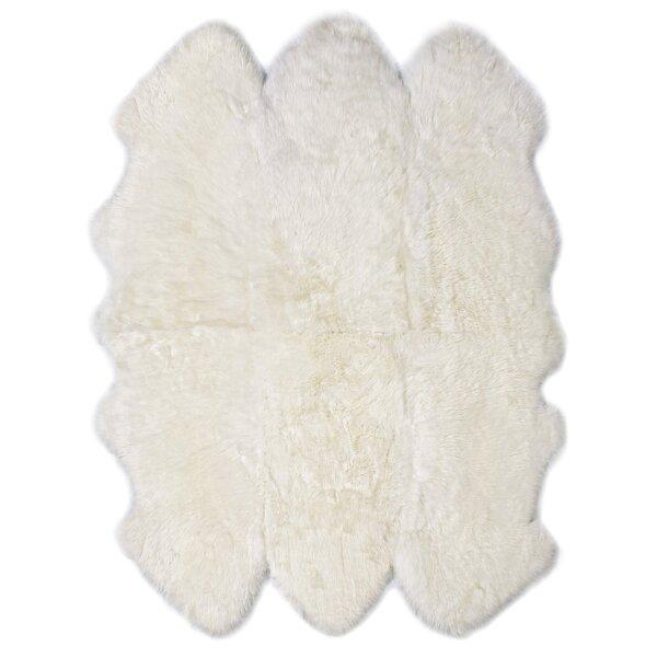 Six Pelt Ivory Area Rug by Fibre by Auskin