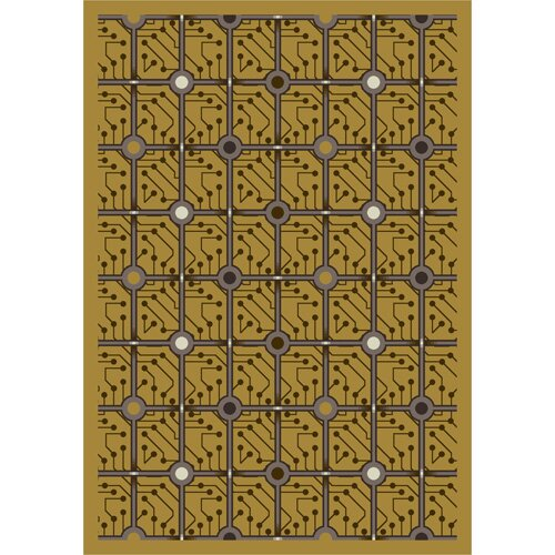 Yellow Electrode Area Rug by The Conestoga Trading Co.