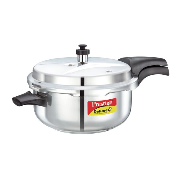 Deluxe 5.28-Quart Stainless Steel Deep Pressure Pan by Prestige Cookers