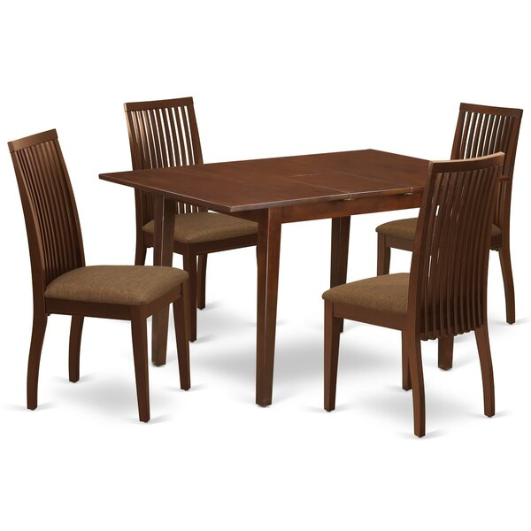 Bovell 5 Piece Extendable Solid Wood Dining Set by Winston Porter Winston Porter