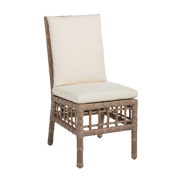 Newport Patio Dining Chair with Cushion (Set of 2) by Summer Classics