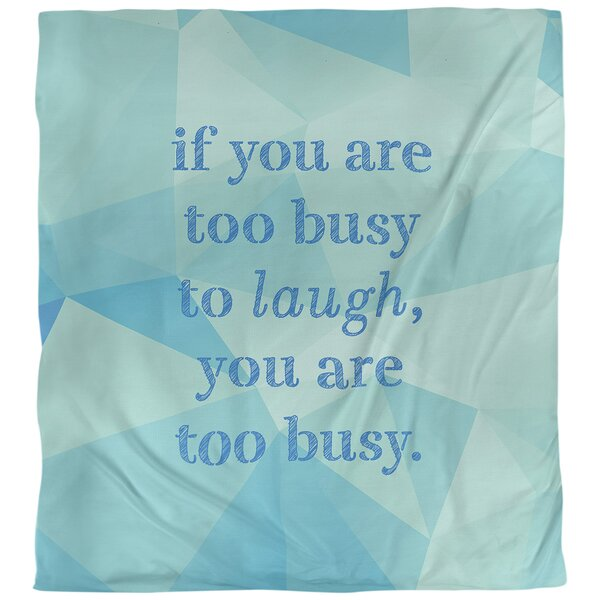 Make Time for Laughter Quote Single Duvet Cover