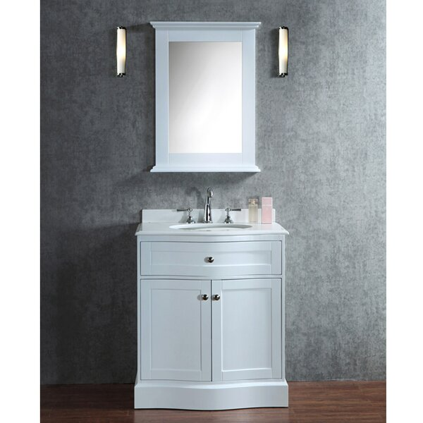 Georgette 30 Single-Sink Bathroom Vanity Set with Mirror by Darby Home Co